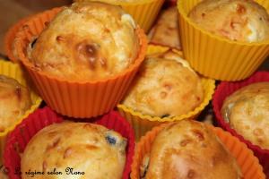 mini-cupcakes tomates séchées, feta, olives noires