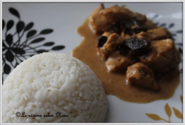 recette poulet au curry et au pruneaux