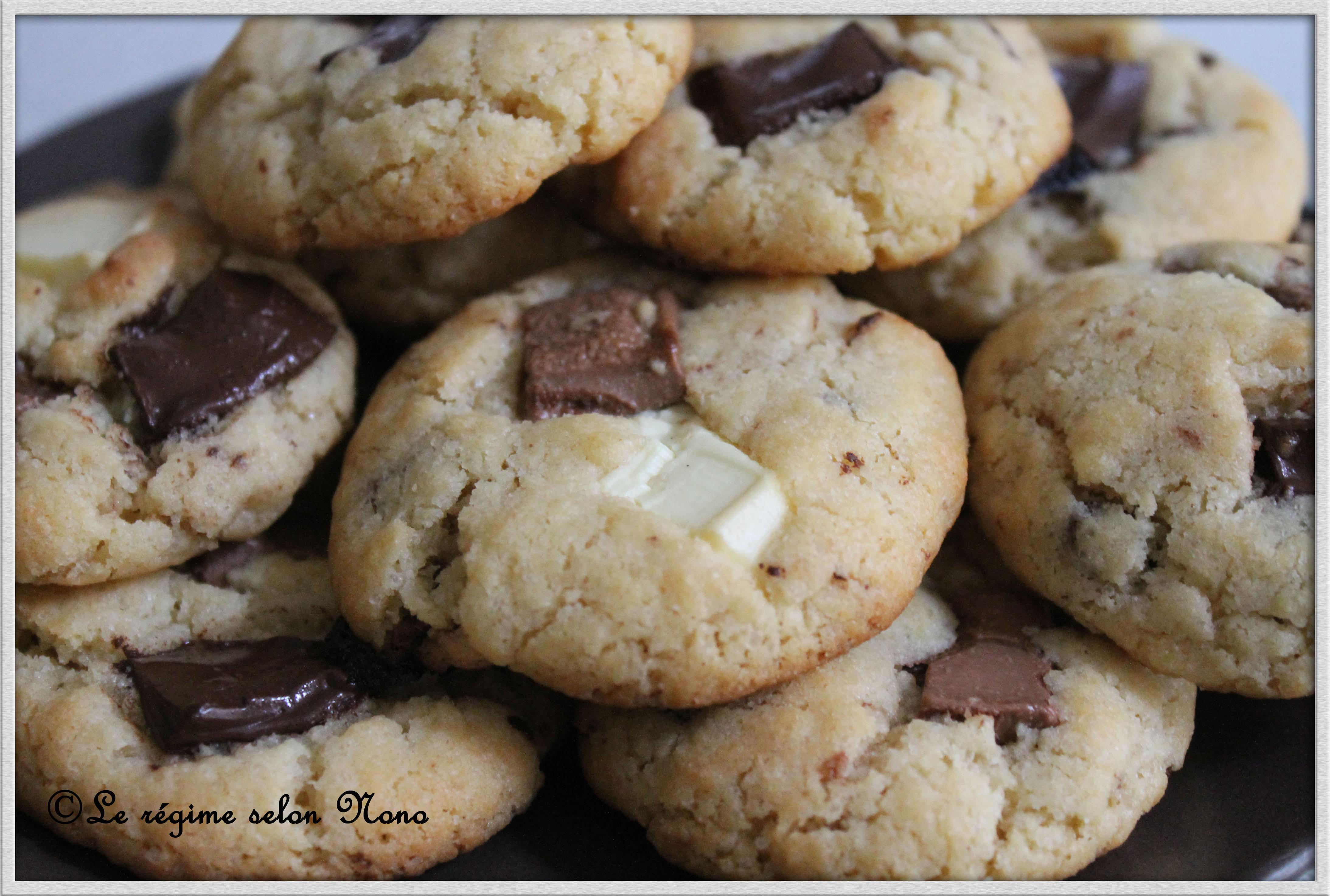 cookies aux trois chocolats blanc noir et lait blogs de cuisine. Black Bedroom Furniture Sets. Home Design Ideas