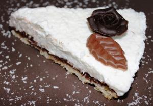 cheesecake coco et chocolat