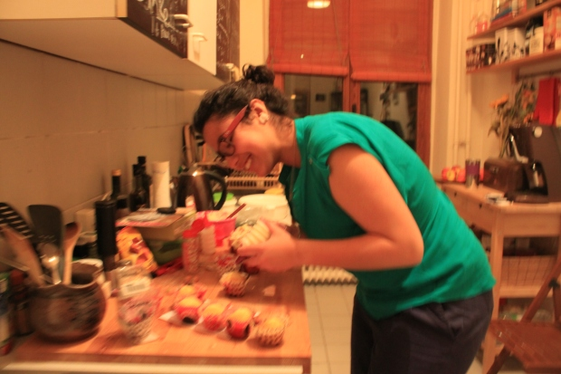 wassi fait des cupcakes au philadelphia