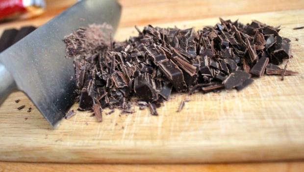 chocolat haché pour brownie