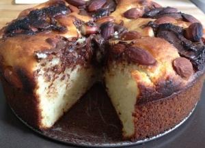 Gâteau au yaourt nutella amande