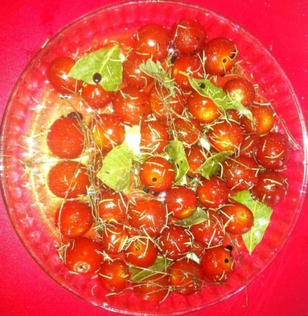 recette tomates cerises confites